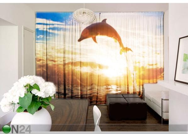 Fotokardinad Delfiin 290x250 cm AÄ-101243