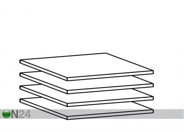 Lisariiulite komplekt 50 cm kapile, 4 tk AY-101796