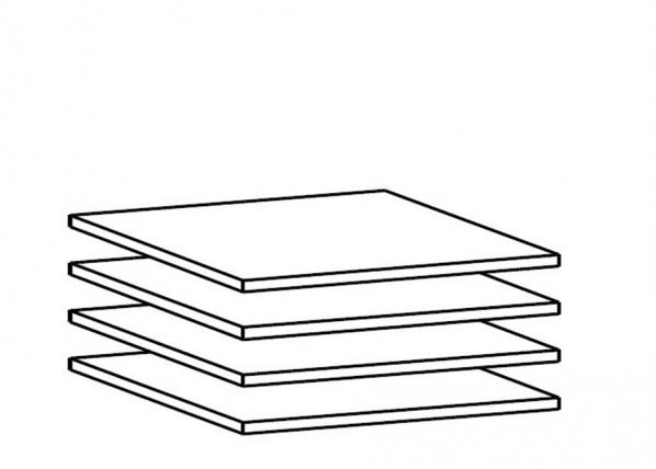 Lisariiulite komplekt 100 cm kapile, 4 tk AY-101869