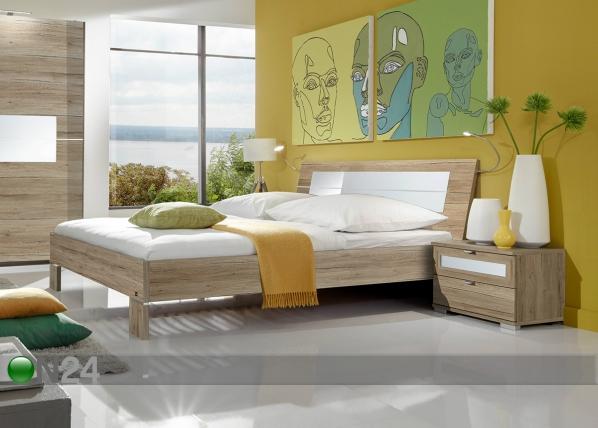 Magamistoakomplekt Pleasure 2 öökappi + voodi 180x200 cm SM-102492
