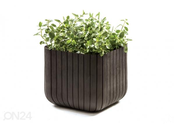 Istutuspott Keter Cube Planter väike, pruun TE-109010