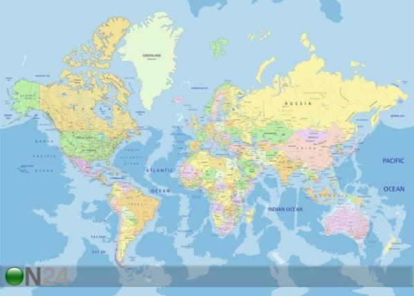 Fliis-fototapeet World map 360x270 cm ED-109412