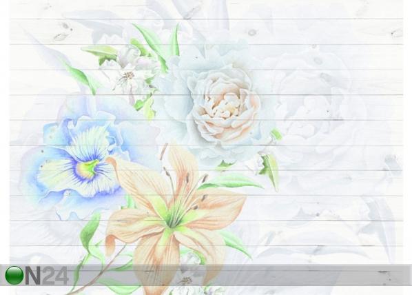 Fliis-fototapeet Flowers 360x270 cm ED-128180