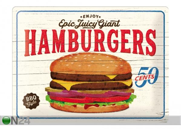 Retro metallposter Hamburgers 30x40 cm SG-132757