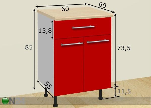 Kahe ukse ja sahtliga köögikapp AR-24812