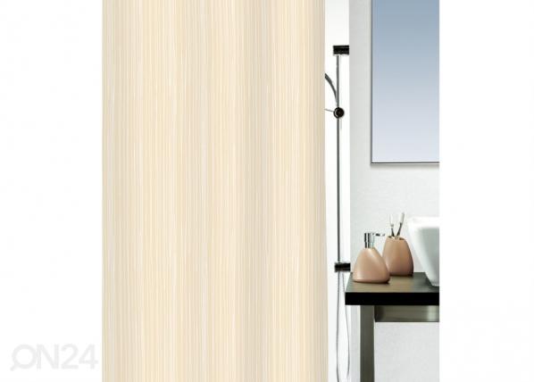 Tekstiilist vannikardin Raya beež 180x200 cm UR-29526