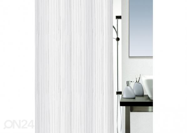 Tekstiilist vannikardin Raya valge 180x200 cm UR-29528