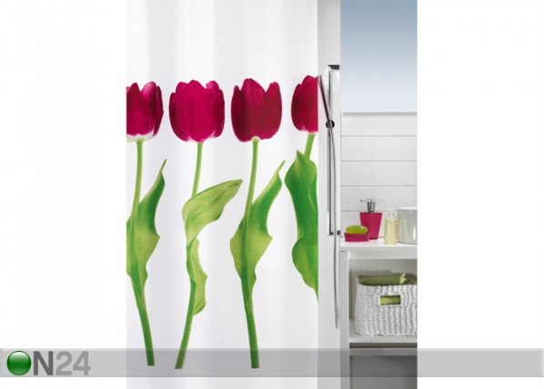 Tekstiilist vannikardin Tulipa 180x200 cm UR-29693