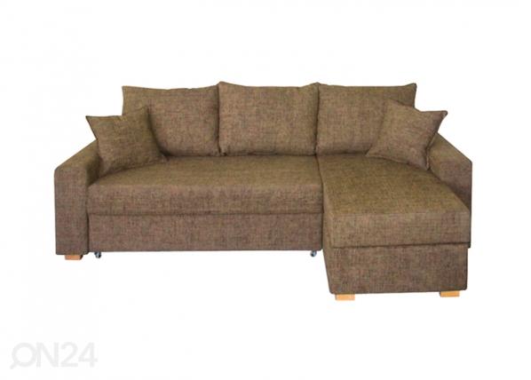 Nurgadiivan-voodi kahe pesukastiga MU-38206