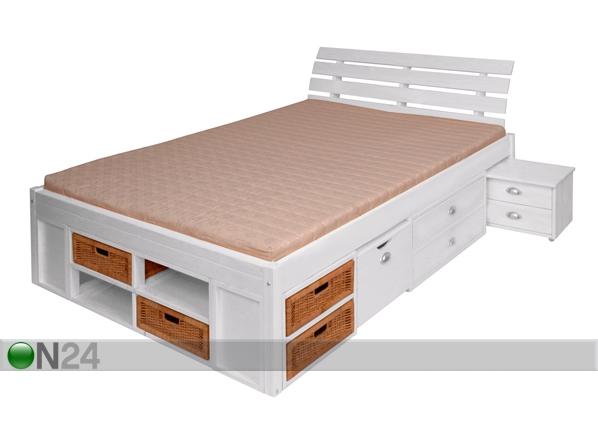 Peatsiga voodi Lunia 160x200 cm FY-39222
