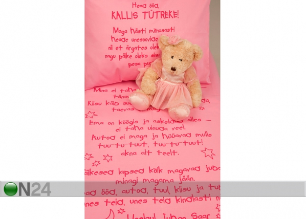Laste voodipesukomplekt roosa VÄ-41910