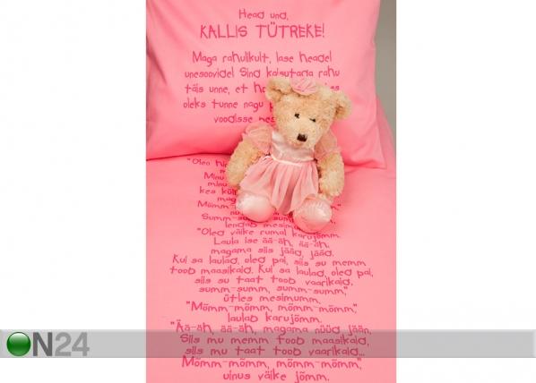 Väikelaste voodipesukomplekt roosa VÄ-41919