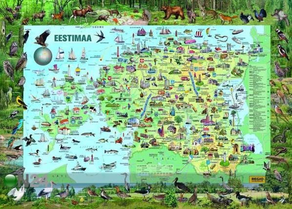 Regio Eestimaa piltkaart 1:360 000 RW-45448