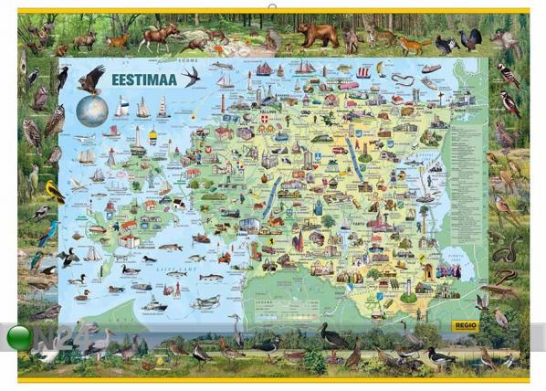 Regio Eestimaa piltkaart 1:360 000 riputusliistudega RW-45452