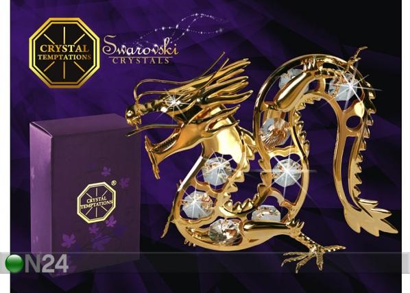Kullatud Swarovski kristallidega kuju Draakon MO-47023