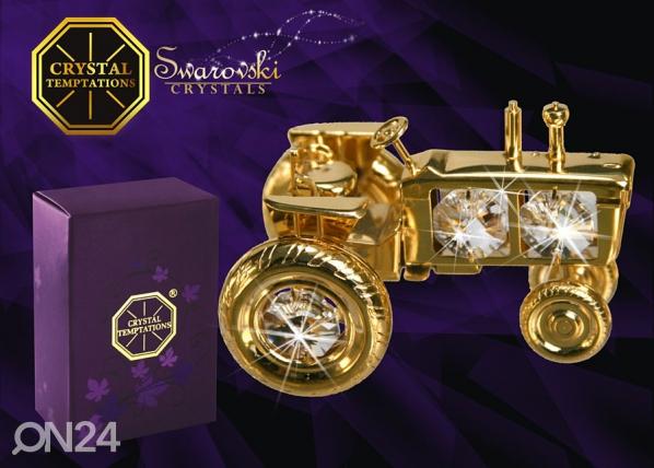 Kullatud Swarovski kristallidega kuju Traktor MO-47055