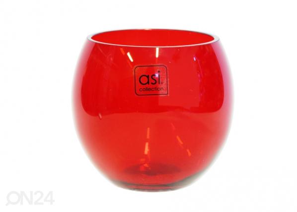 Küünlaalus Punane kera Ø9cm ET-51538
