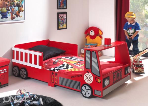 Voodi Fire Truck 70x140 cm AQ-52023