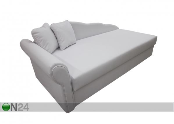 Pesukastiga nahast diivan-voodi Helga 90x200 cm SN-54331