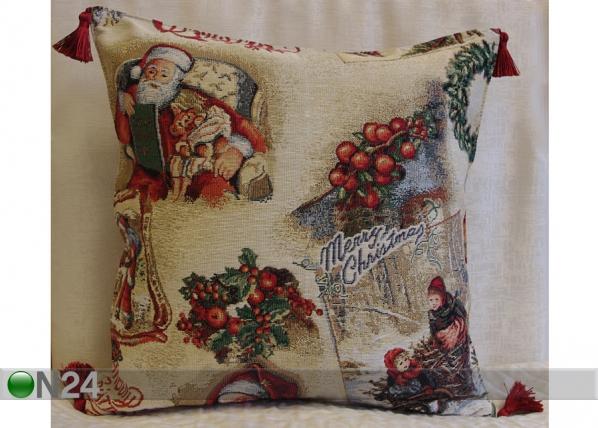 Gobeläänkangast jõuluteemaline dekoratiivpadi Sleigh TG-56075