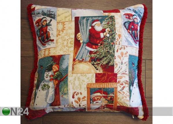 Gobeläänkangast jõuluteemaline dekoratiivpadi Lumi TG-56078