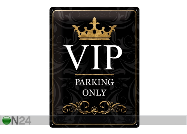 Retro metallposter VIP Parking Only 30x40cm SG-57107
