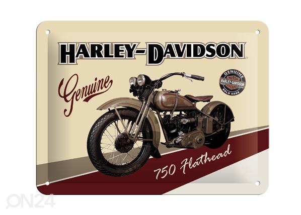 Retro metallposter Harley-Davidson 750 Flathead 20x15cm SG-57111