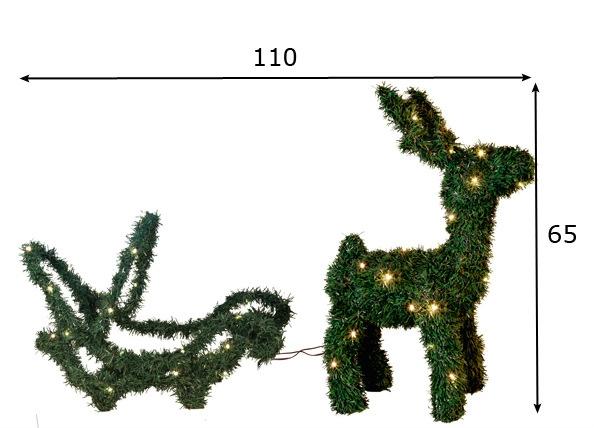 Jõulukaunistus õue Reindeer & Sledge 65cm AA-57384