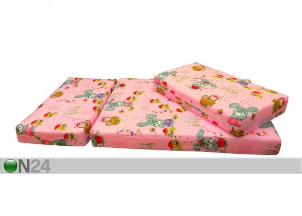 Pikendatav madrats Bunny roosa 75x100+42+42 cm HA-58747