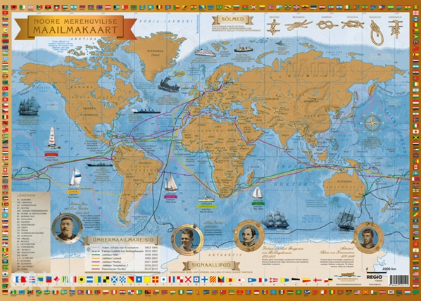 Noore merehuvilise maailmakaart RW-62025