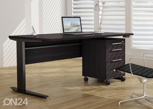 Elektriliselt reguleeritav kontorilaud sahtliboksiga Prima CM-64717