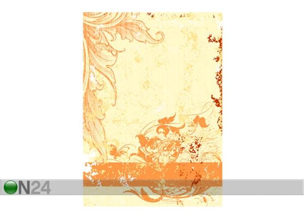 Fototapeet Grunge orange scroll 200x280cm ED-64733