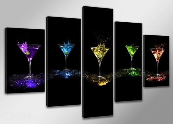 Viieosaline seinapilt Drink ED-65498