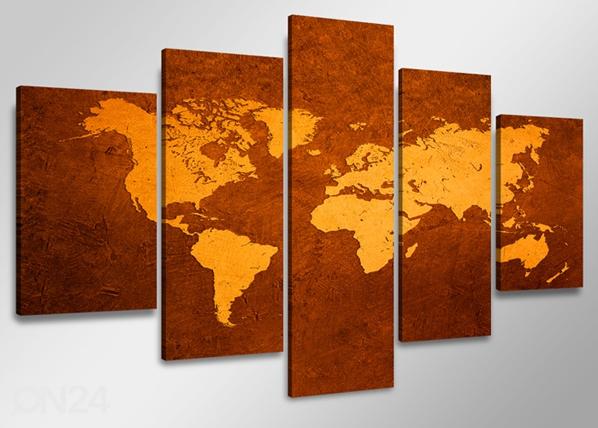 Viieosaline seinapilt Maakaart ED-65588