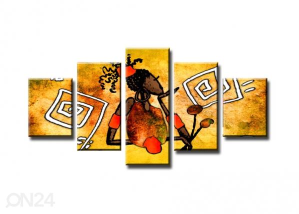 Viieosaline seinapilt Abstrakt ED-65613
