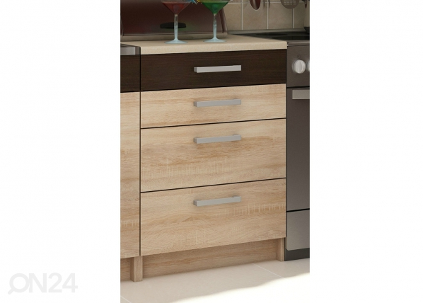 Alumine sahtlitega köögikapp 60 cm TF-65939