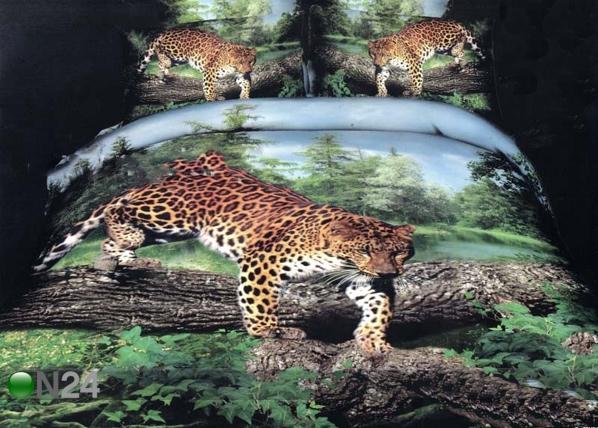 3D voodipesukomplekt Leopard puul TX-66535