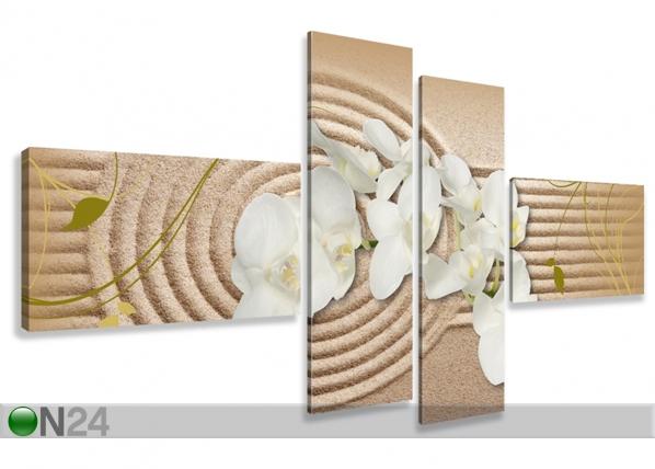 Neljaosaline seinapilt Orhidee liival ED-66689