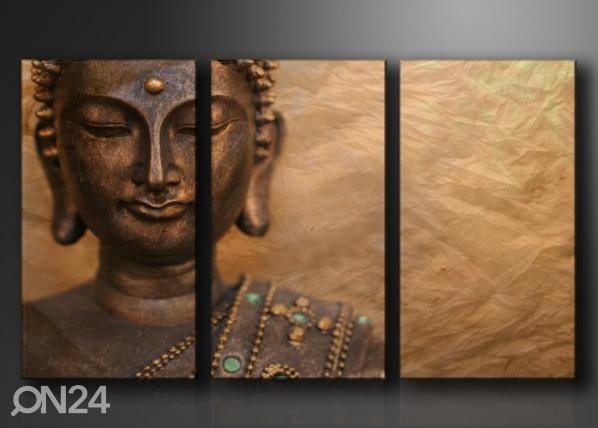 Kolmeosaline seinapilt Buddha ED-67569