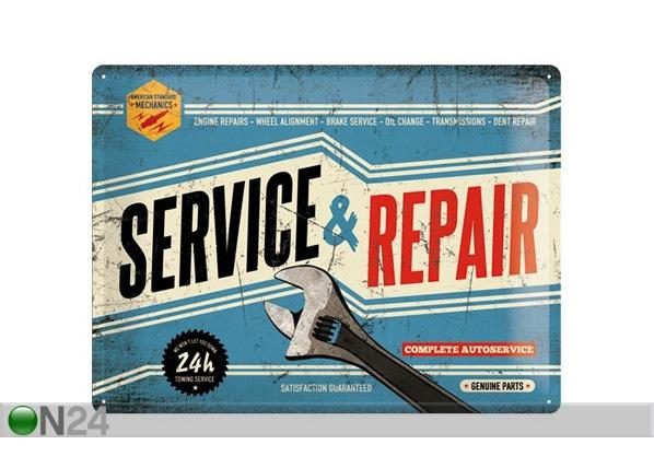 Retro metallposter Service & Repair 30x40cm SG-68165