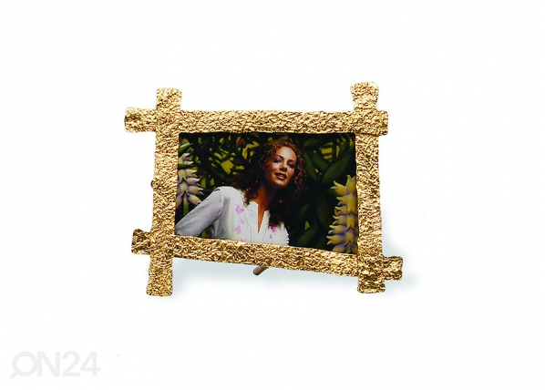 Pildiraam Crisscross Crumpled väike, kuldne A5-69501