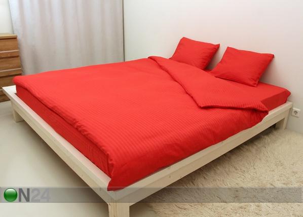 Voodipesukomplekt Punane triip 200x210cm AN-69951