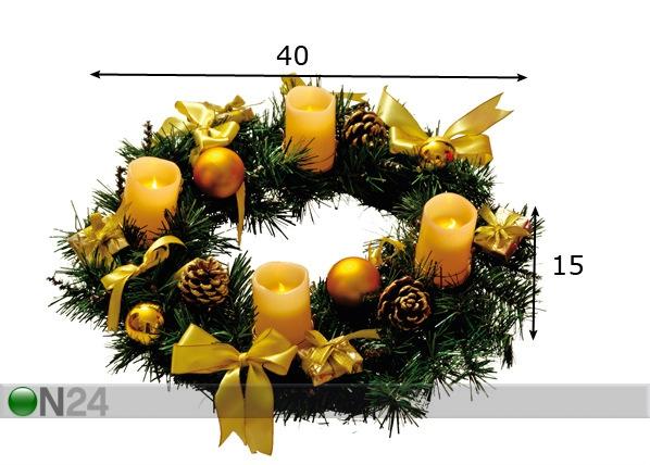 Dekoratiivne advendipärg 40 cm AA-70013