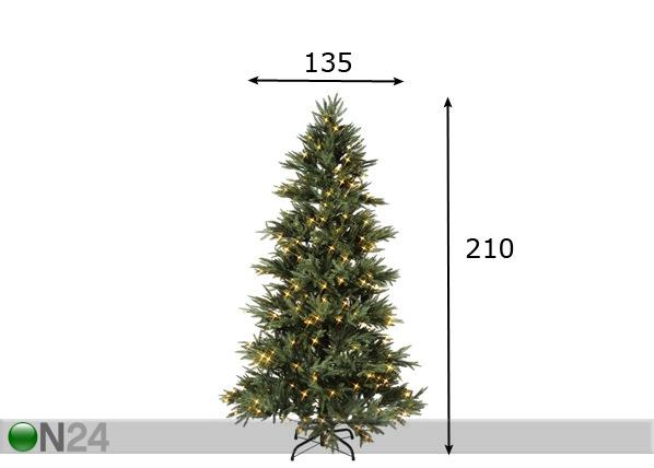 Kunstkuusk LED tuledega Alabama 210cm AA-70281