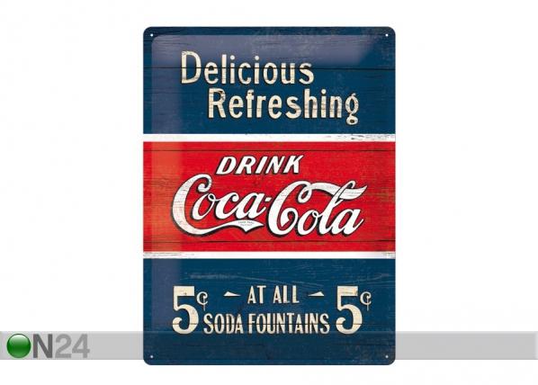 Retro metallposter Coca-Cola 5c Delicious Refreshing 30x40cm SG-70335