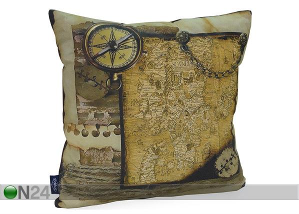 Dekoratiivpadi Maakaart 45x45 cm QA-71995