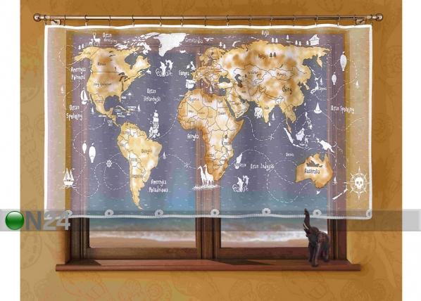 Kardin Maailmakart 215x120 cm MO-72568