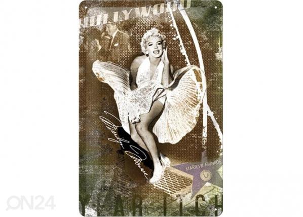 Retro metallposter Marilyn Monoroe Hollywood 20x30cm SG-73484