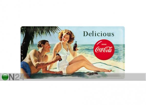 Retro metallposter Coca-Cola Delicious 25x50cm SG-73503