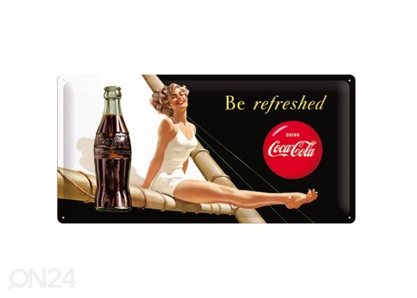 Retro metallposter Coca-Cola Be Refreshed 25x50cm SG-73504